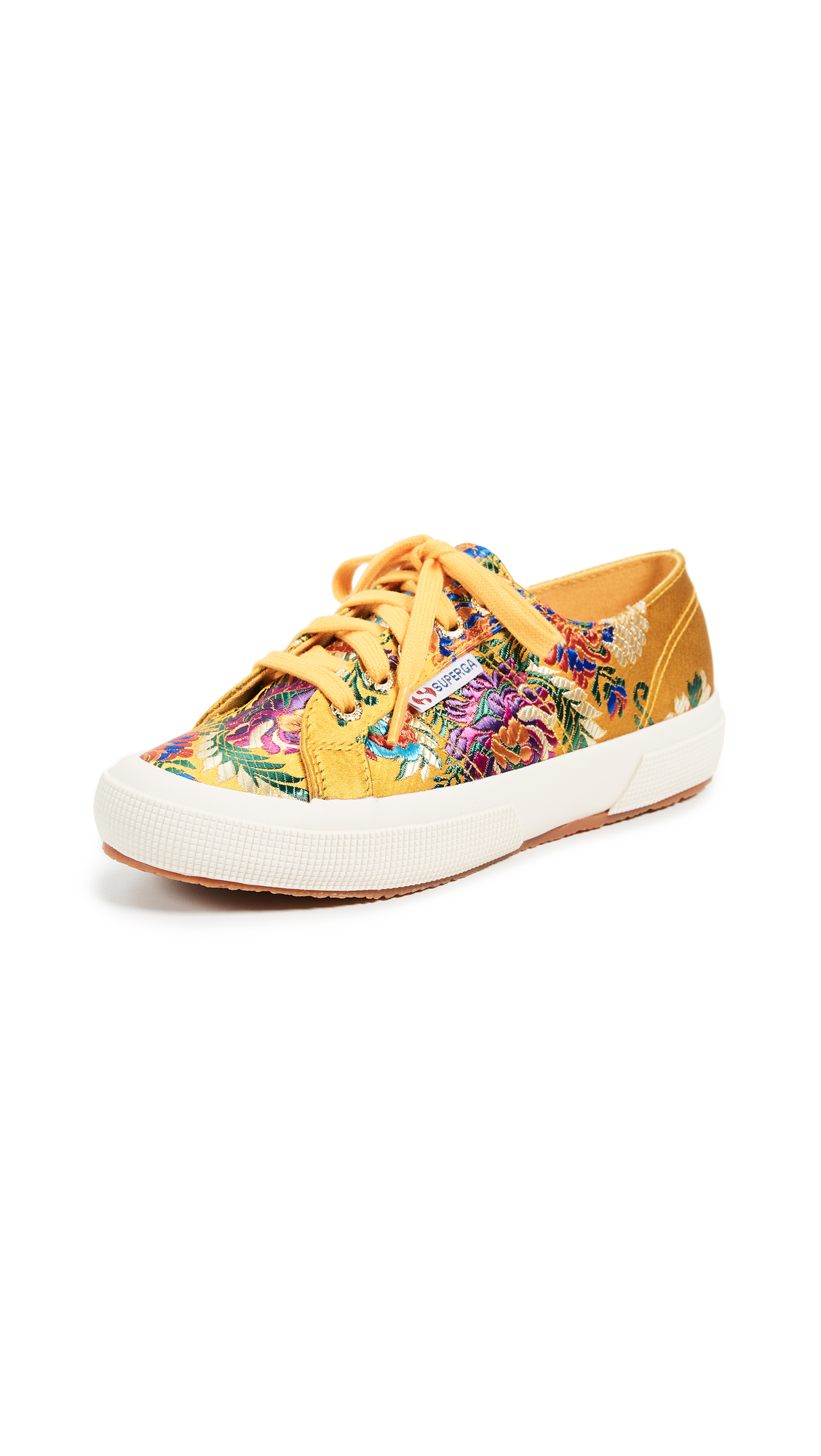Superga 2750 Korelaw Brocade Sneakers - Mustard