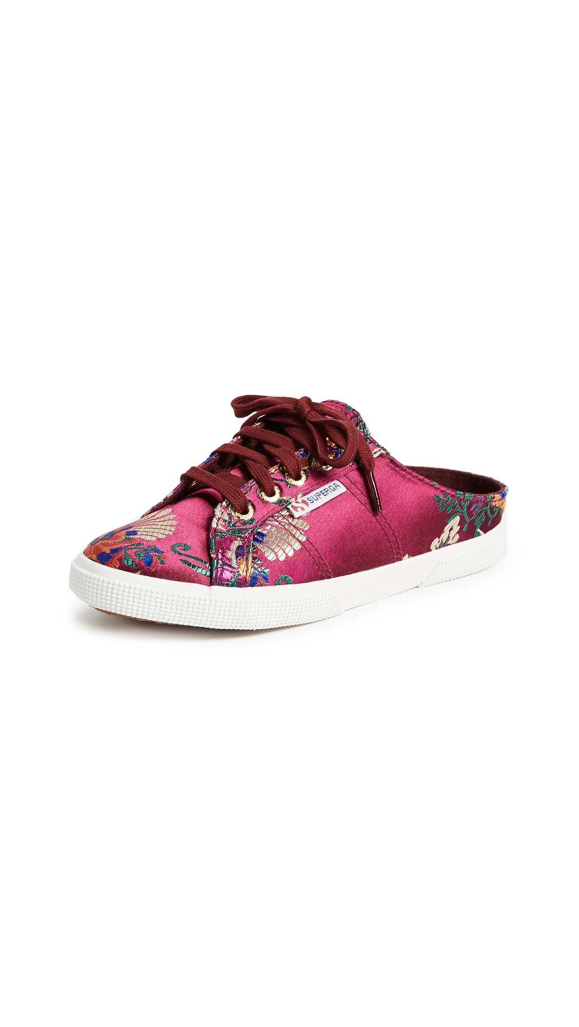 Superga 2288 Korelaw Brocade Mule Sneakers - Bordeaux
