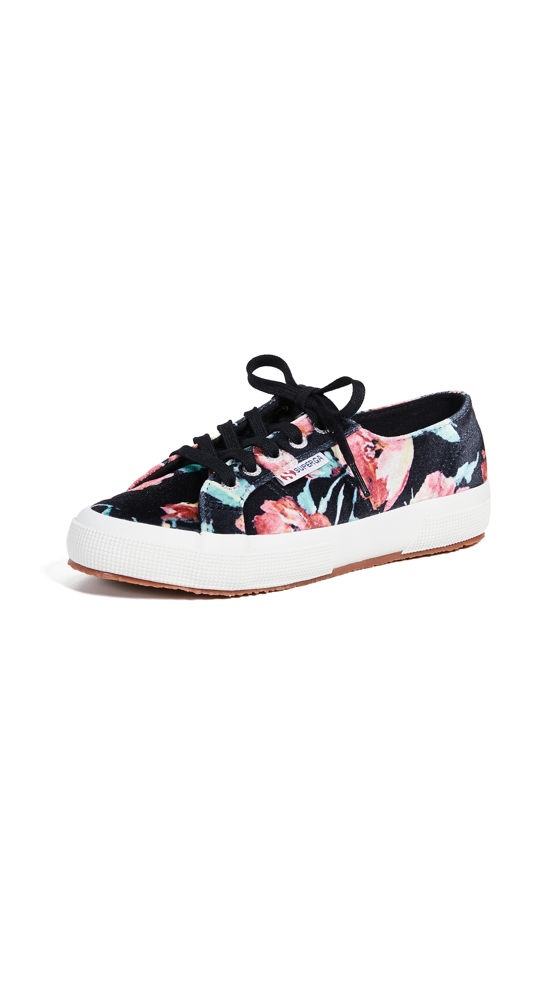 Superga 2750 Floral Printed Sneakers - Black Floral