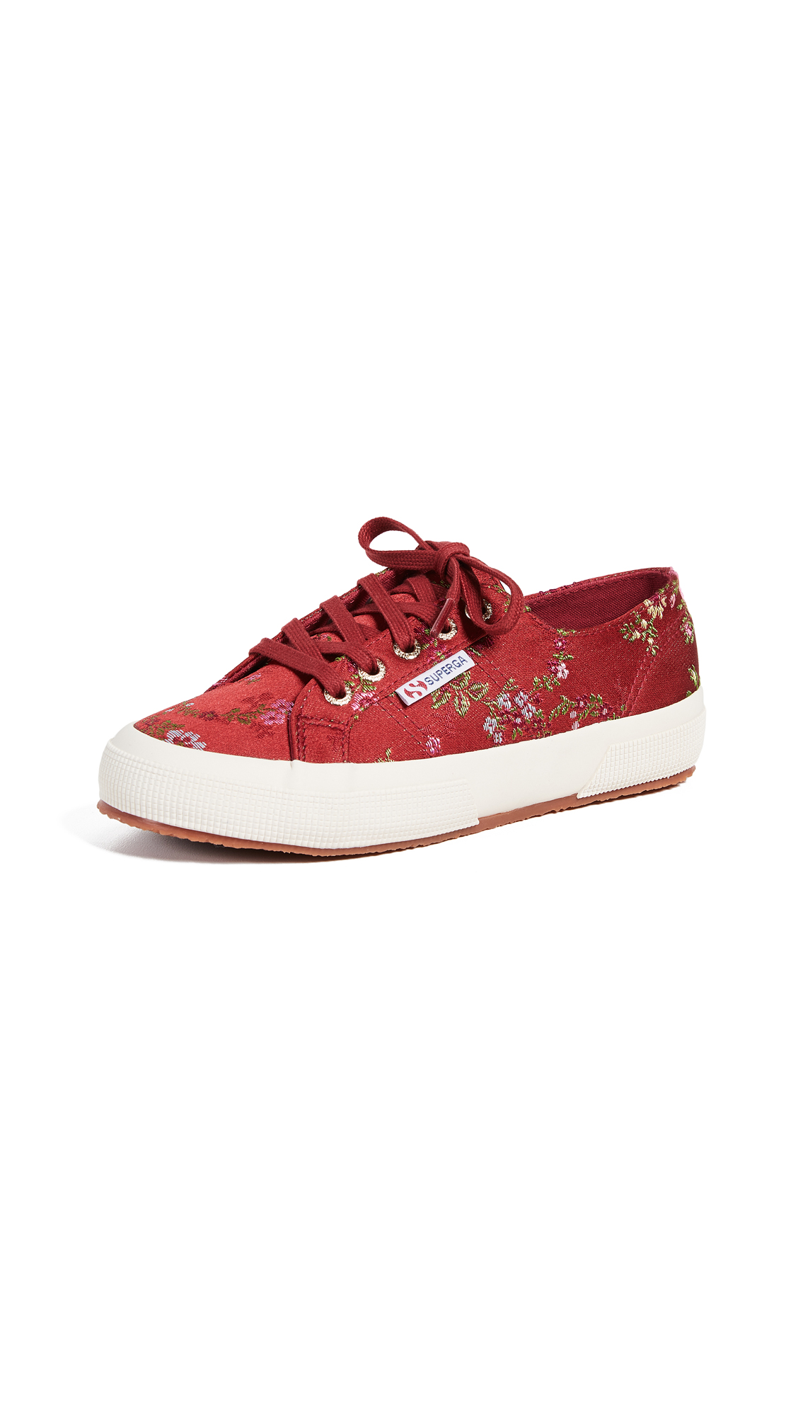 Superga 2750 Floral Sneakers - Bordeaux