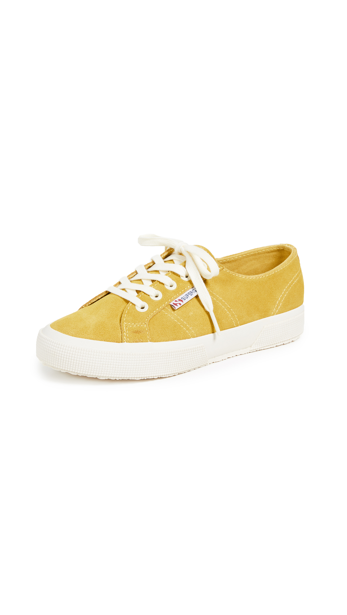Superga 2750 Classic Lace Up Sneakers - Mustard