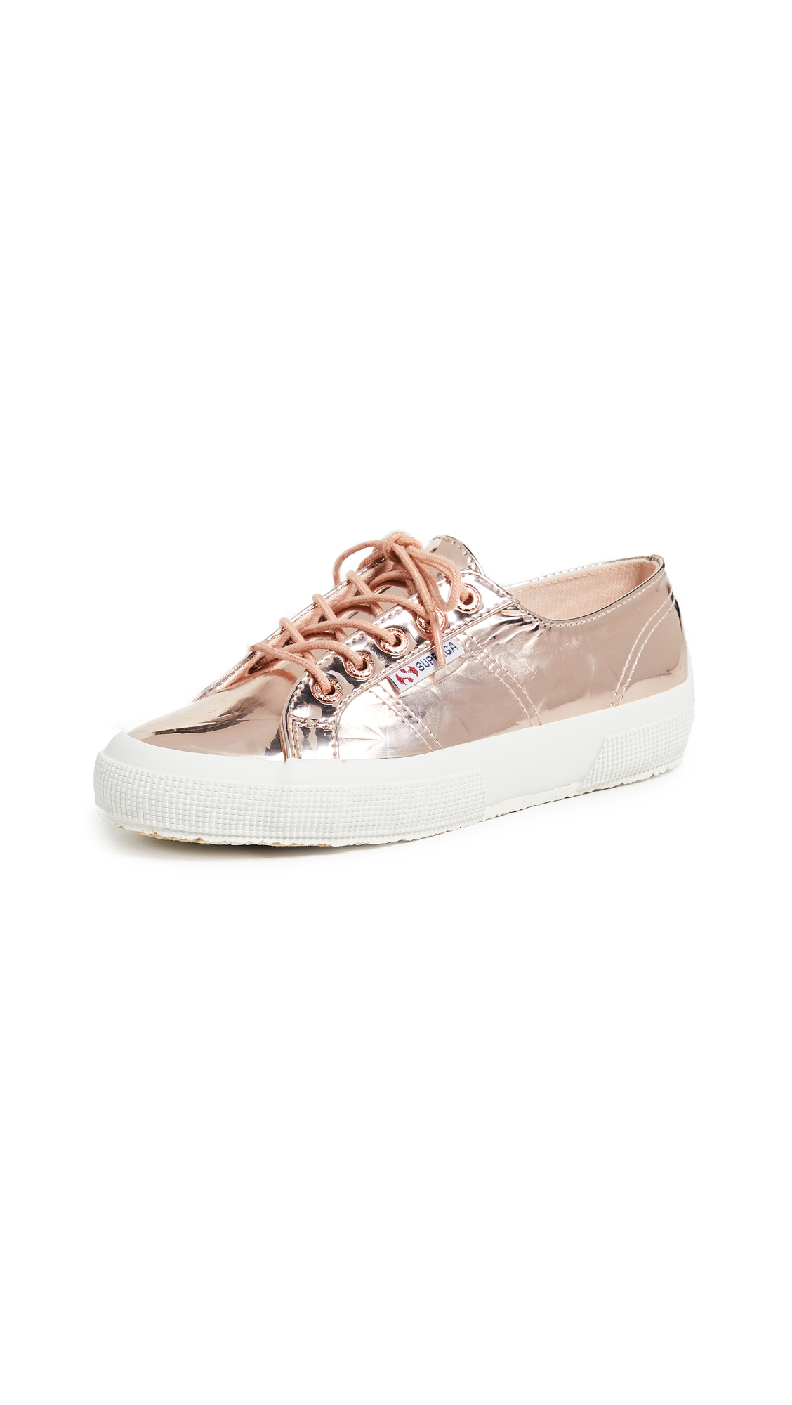 Superga 2750 Metallic Sneakers - Rose Gold