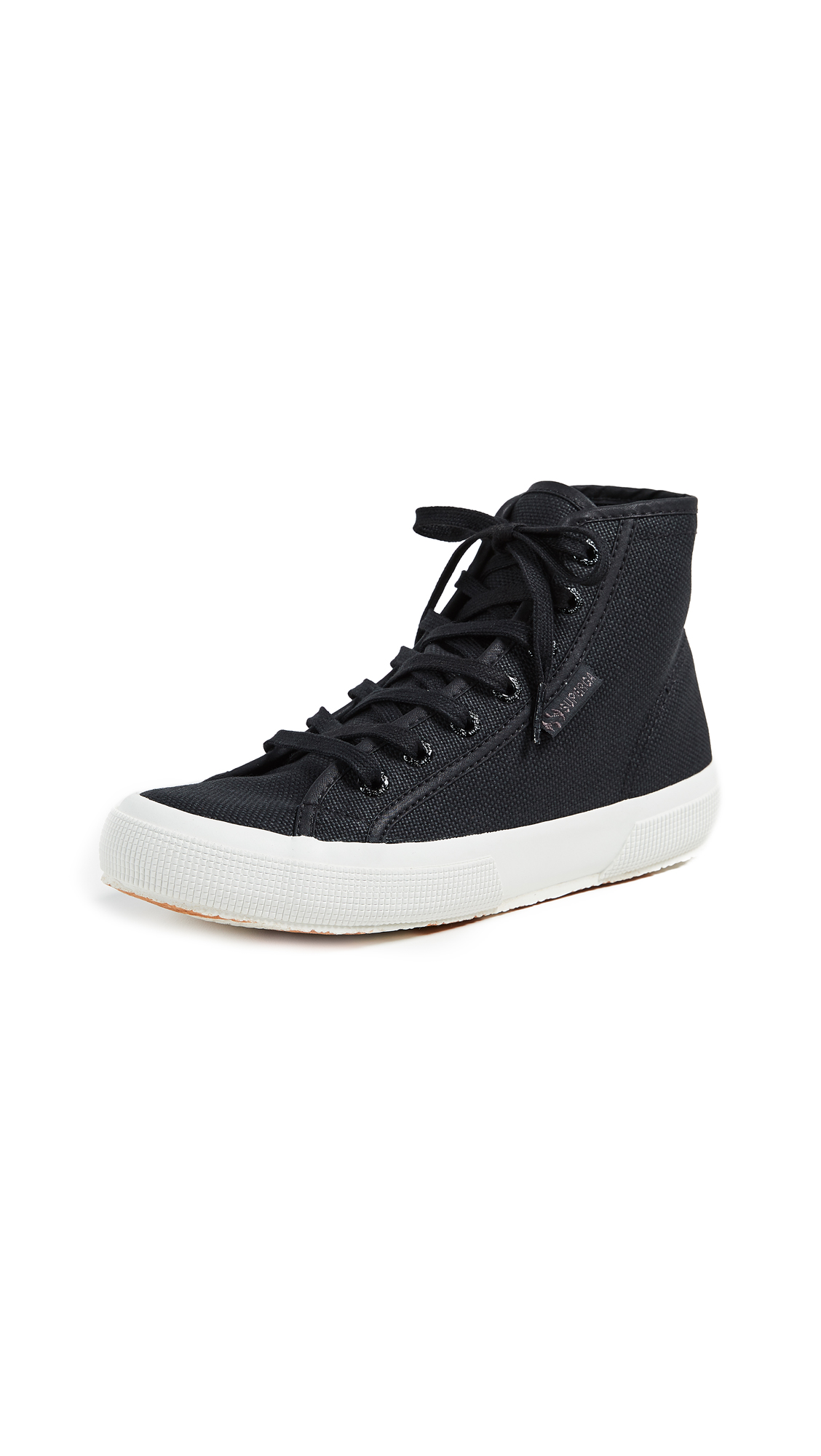 Superga 2795 Cotu High Top Classic Sneakers In Black/White