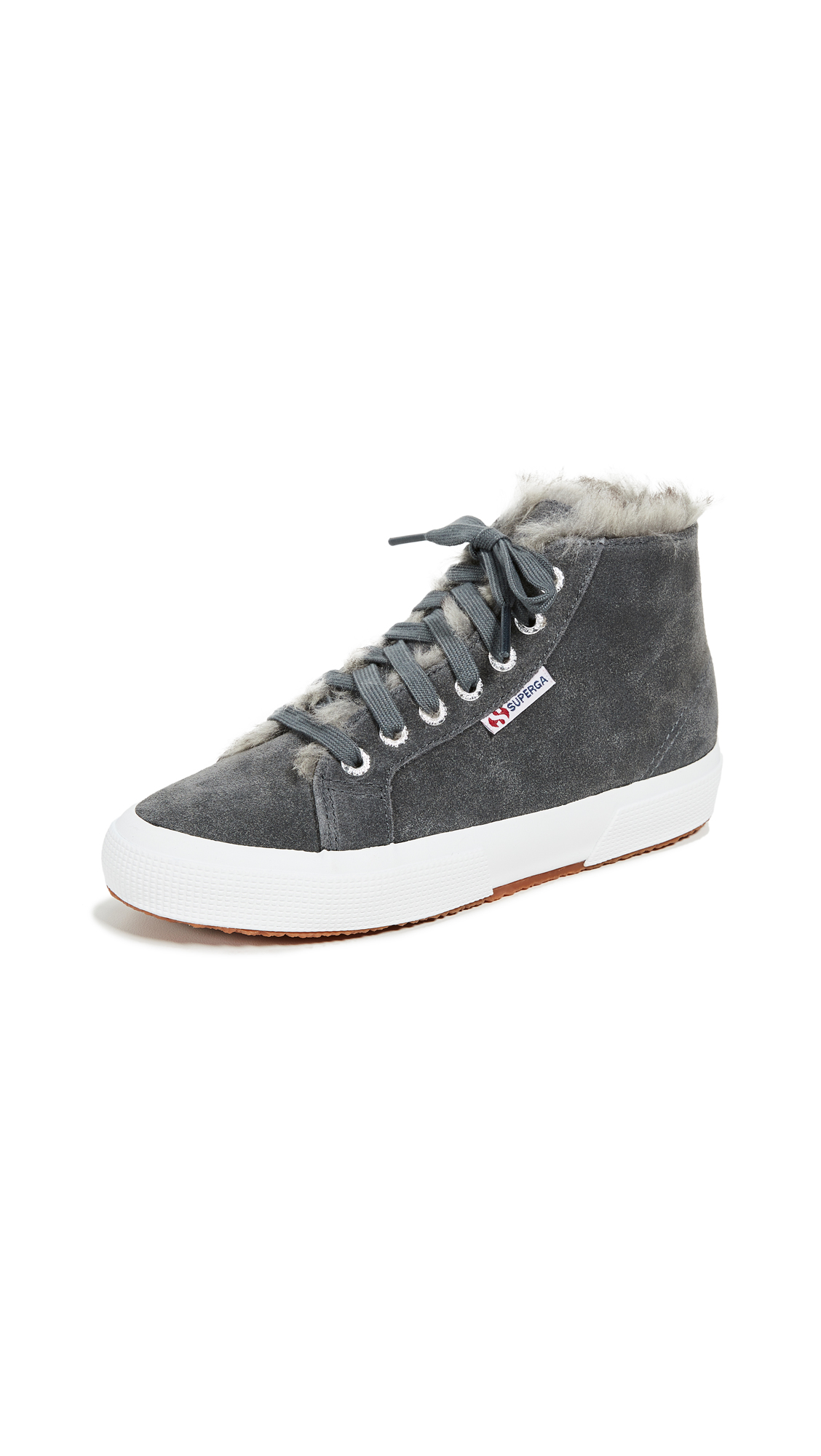 Superga 2795 Faux Fur Lined Sneakers - Dark Grey