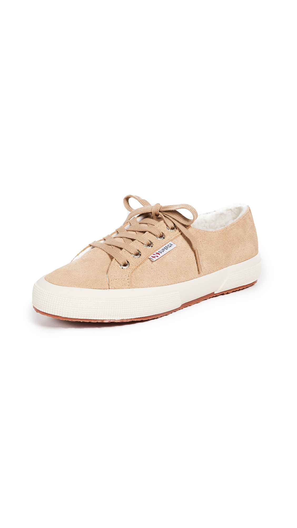 Superga 2750 Suede Lace Up Sneakers - Desert