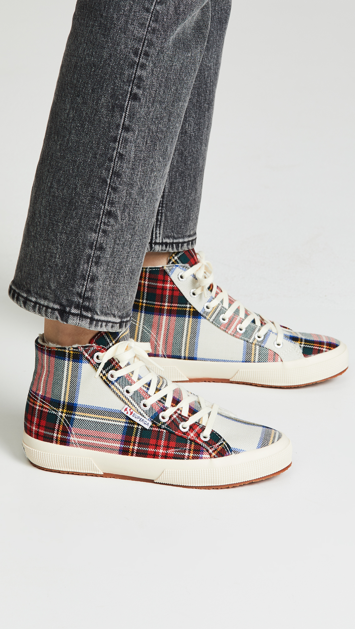 fd656b2a1c08 Superga 2795 Tartan High Top Sneakers