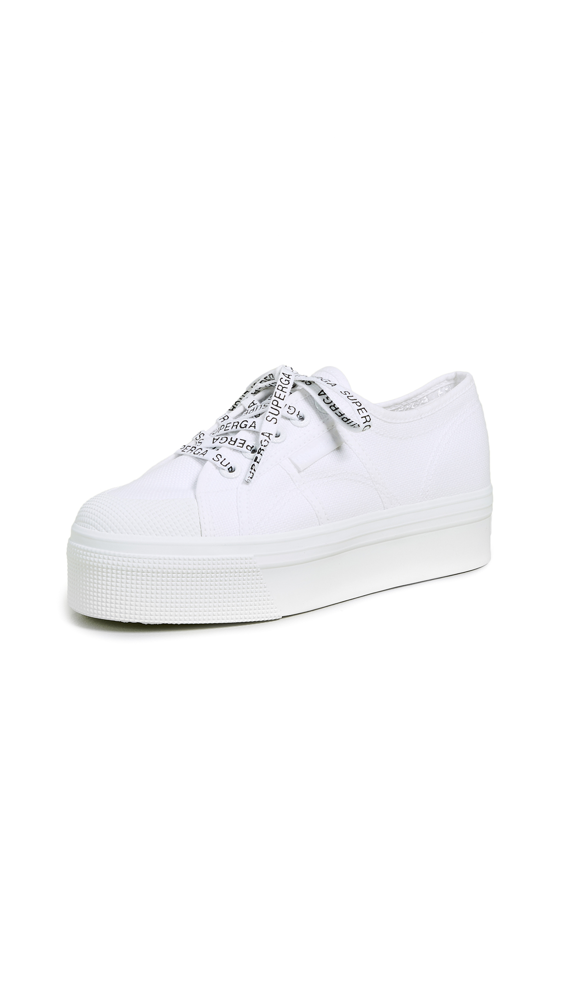 Superga White Out Package Platform Sneakers - White/White