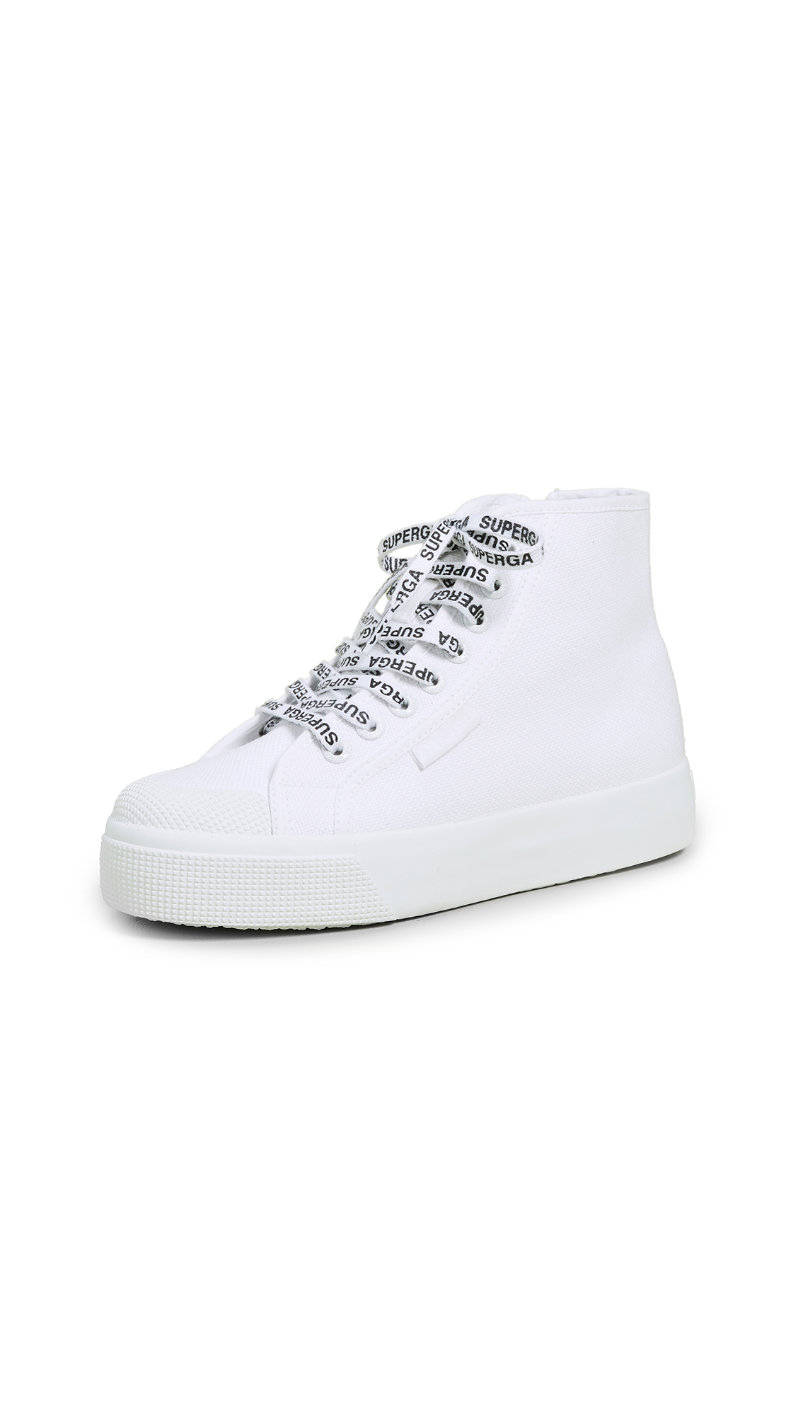 White Out Package High Top Sneakers in White/White