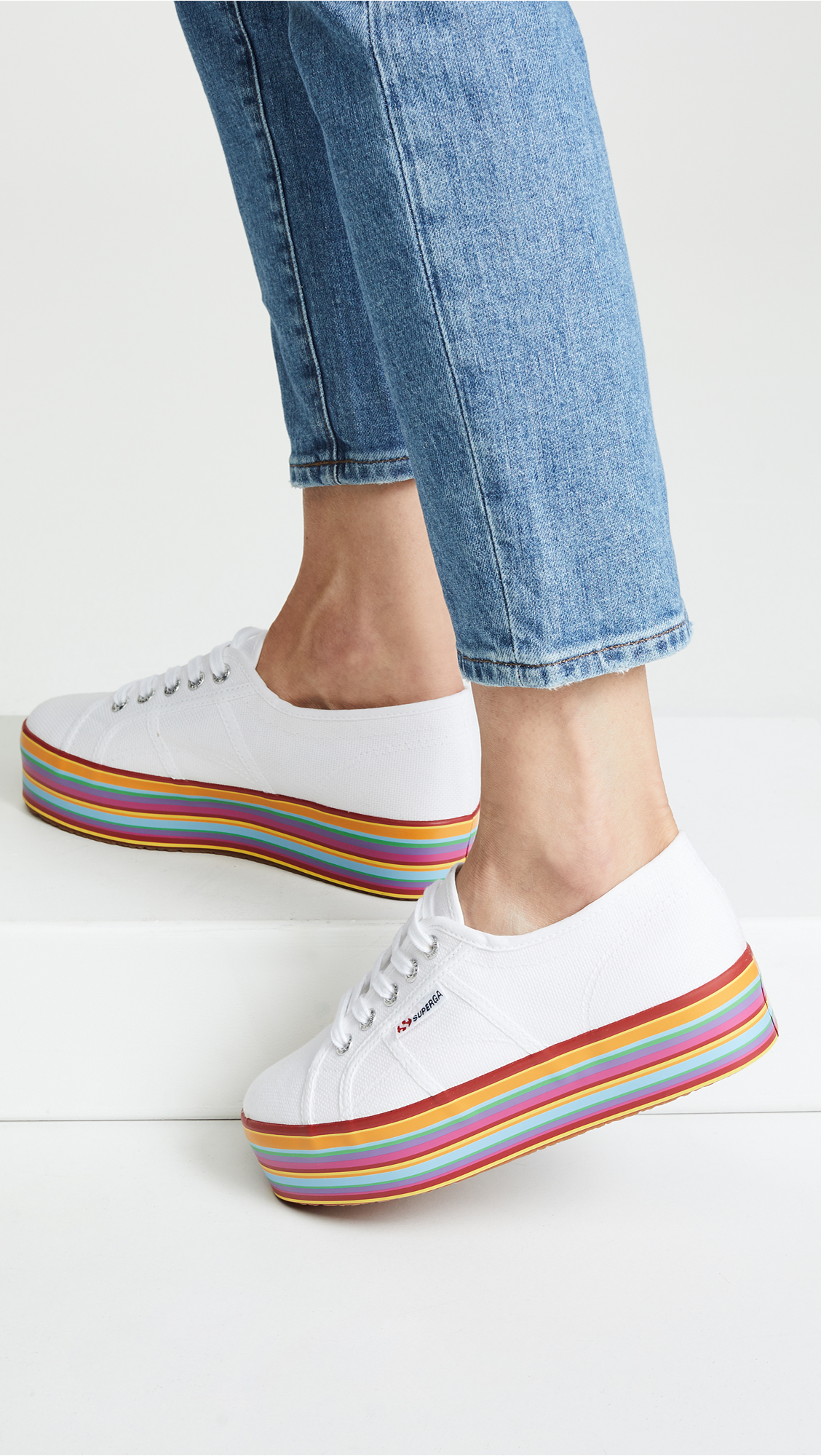 b03bfa15b982 Superga Multicolored Platform Sneakers