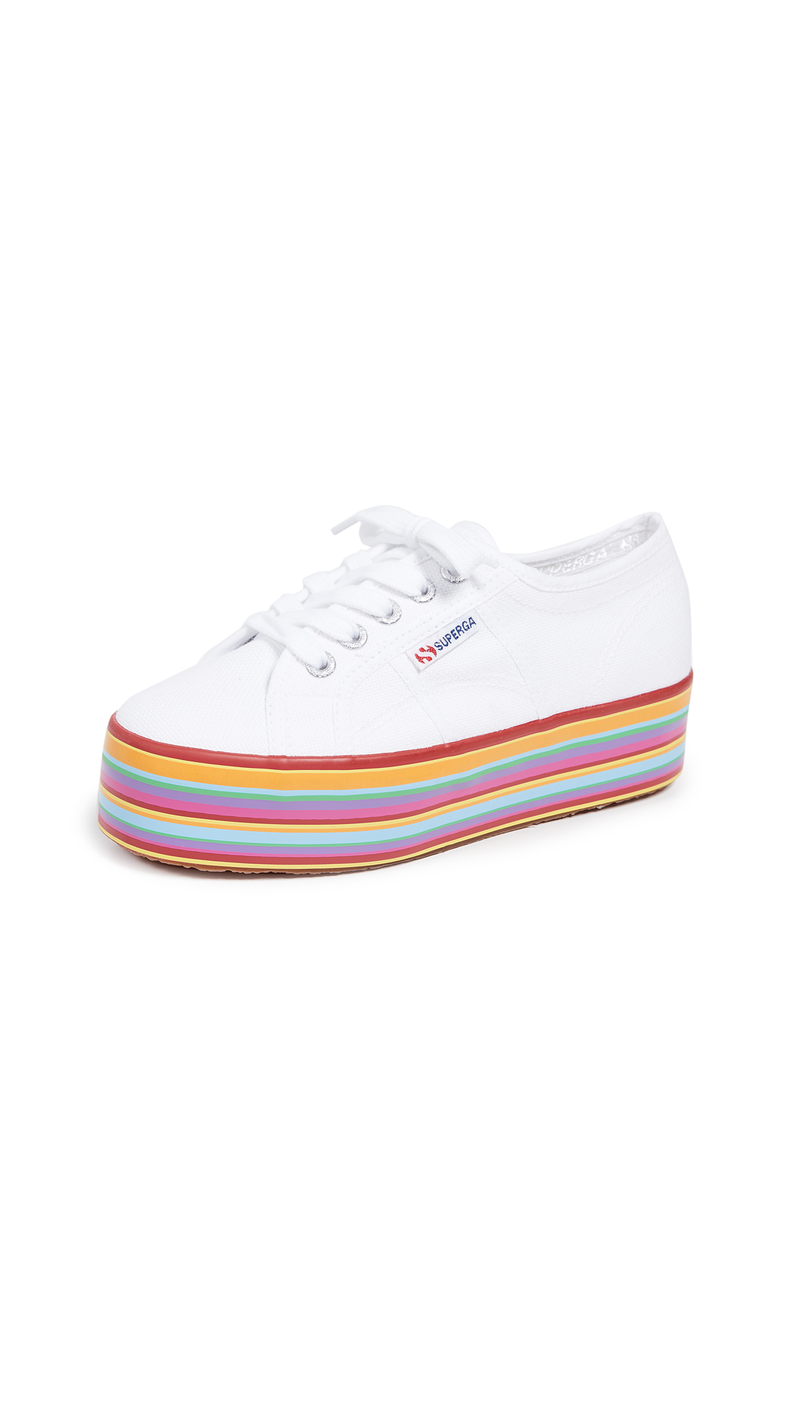 Superga Multicolored Platform Sneakers - White Multi