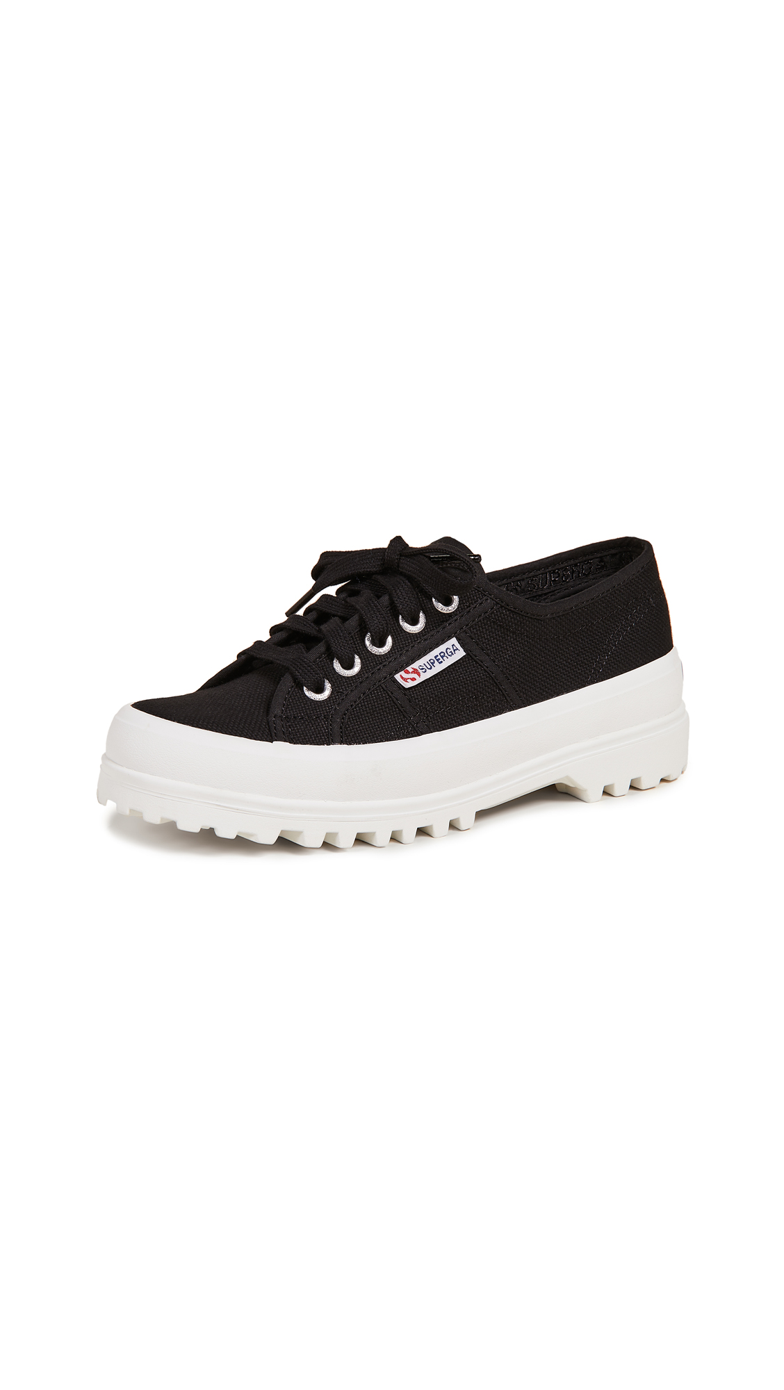Superga 2555 Cotu Lug Sole Sneakers - Black
