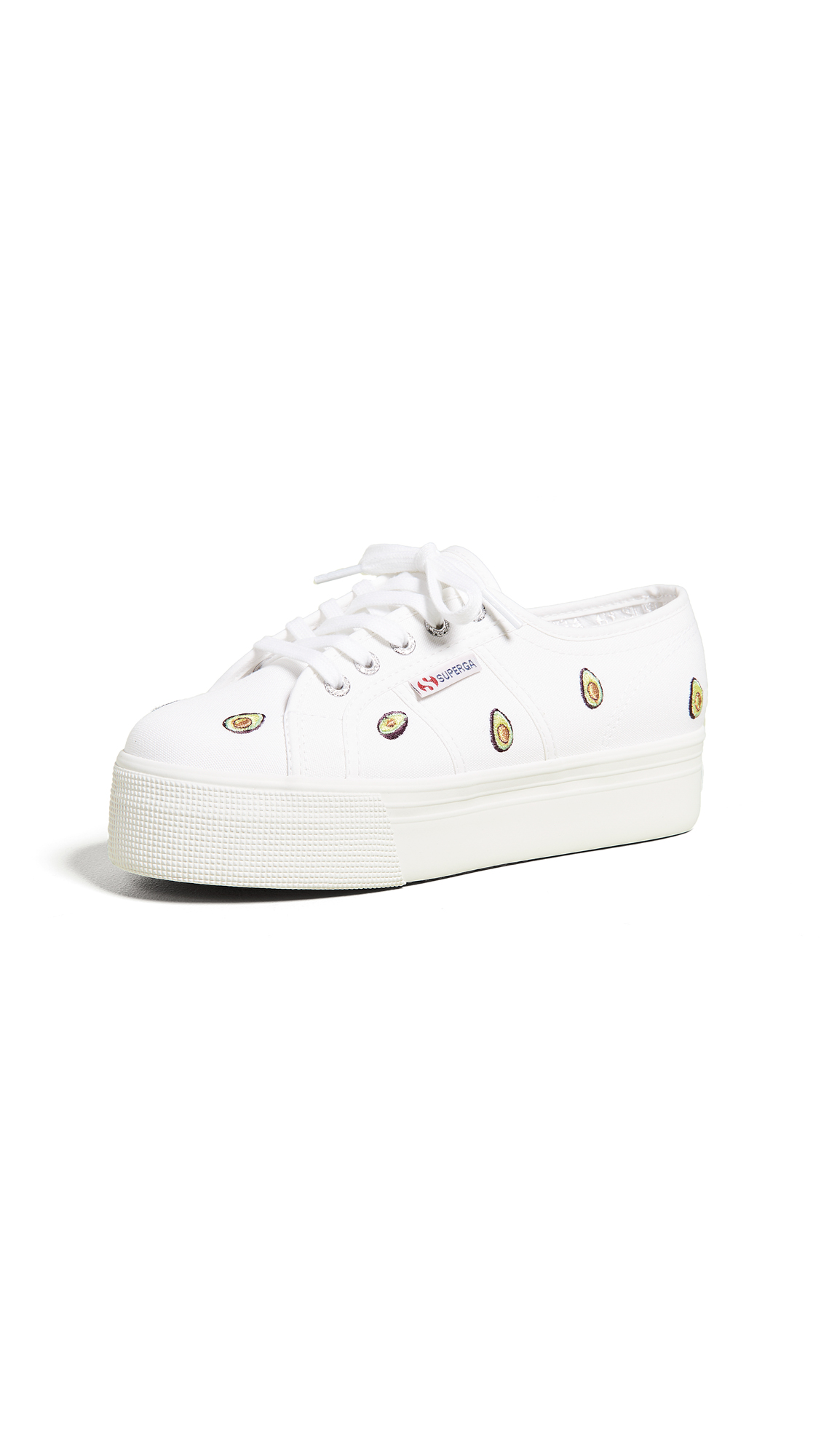 Superga 2750 Avocado Cotw Platform Sneakers - White Multi