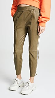 SPRWMN Stripe Leather Jogging Pants