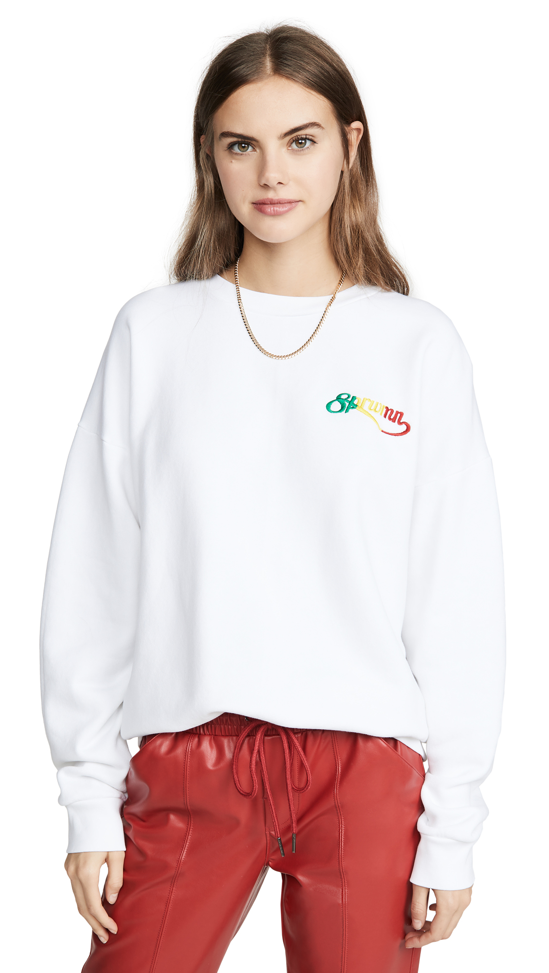 Buy SPRWMN online - photo of SPRWMN Script Logo Crew Neck Sweatshirt