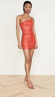 SPRWMN Shirred One Shoulder Dress