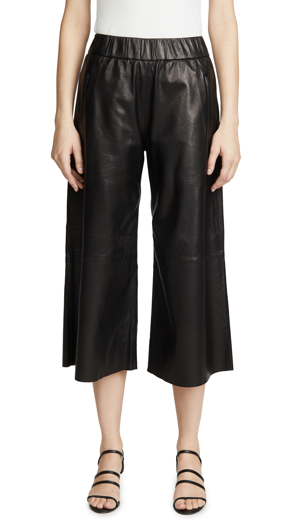 Buy SPRWMN online - photo of SPRWMN Leather Culottes