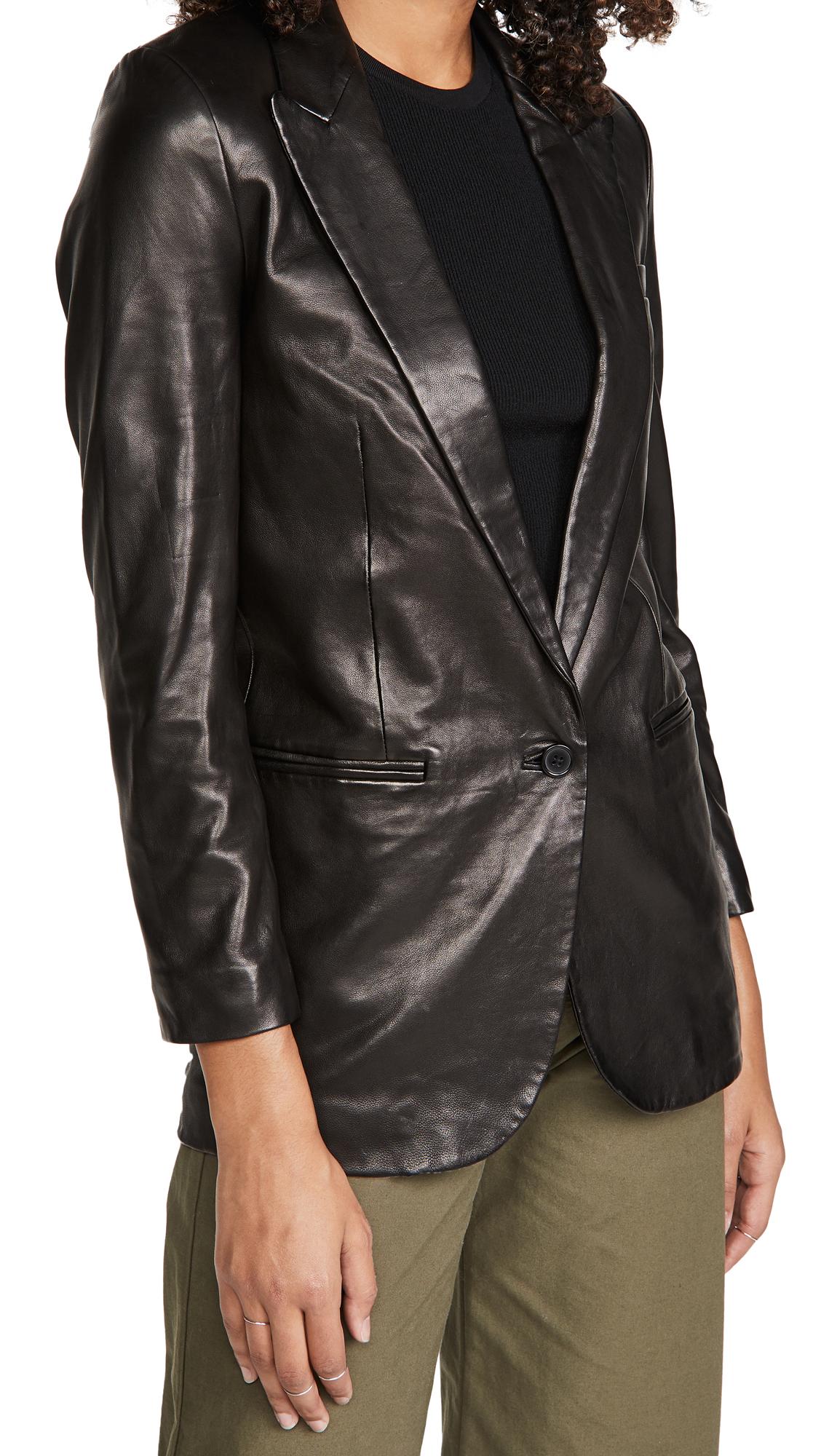 SPRWMN Leather Blazer