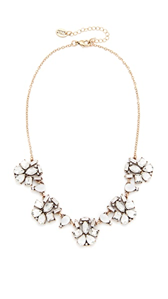 Stella + Ruby Crystal Cluster Necklace - Crystal