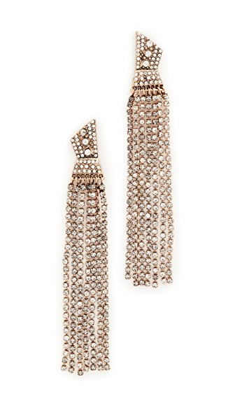 Stella + Ruby Statement Dangle Crystal Earrings - Crystal