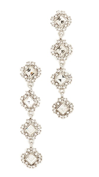 Stella + Ruby Statement Four Tier Crystal Drop Earrings - Crystal