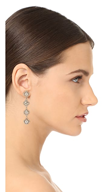 Stella + Ruby Statement Four Tier Crystal Drop Earrings