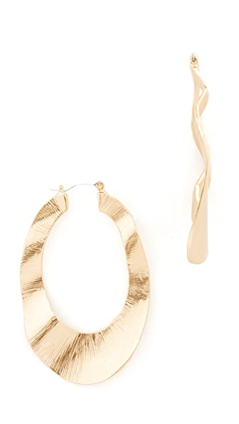 Stella + Ruby Thick Hoops - Gold