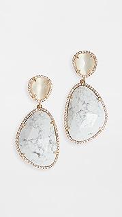 Stella + Ruby White Earrings