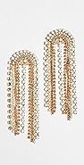 Stella + Ruby Gold Crystal Chandelier Earrings