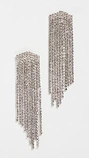 Stella + Ruby Silver Crystal Earrings