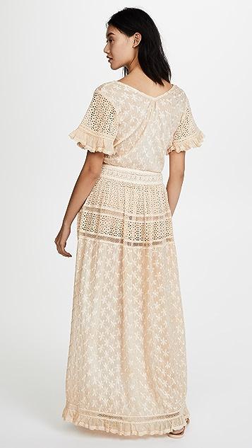 Sunday Saint Tropez Oreka Tie Front Maxi Dress