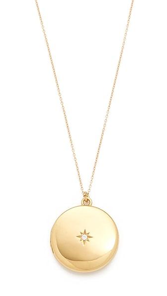 Sasha Samuel Single Star Round Locket Necklace In Gold