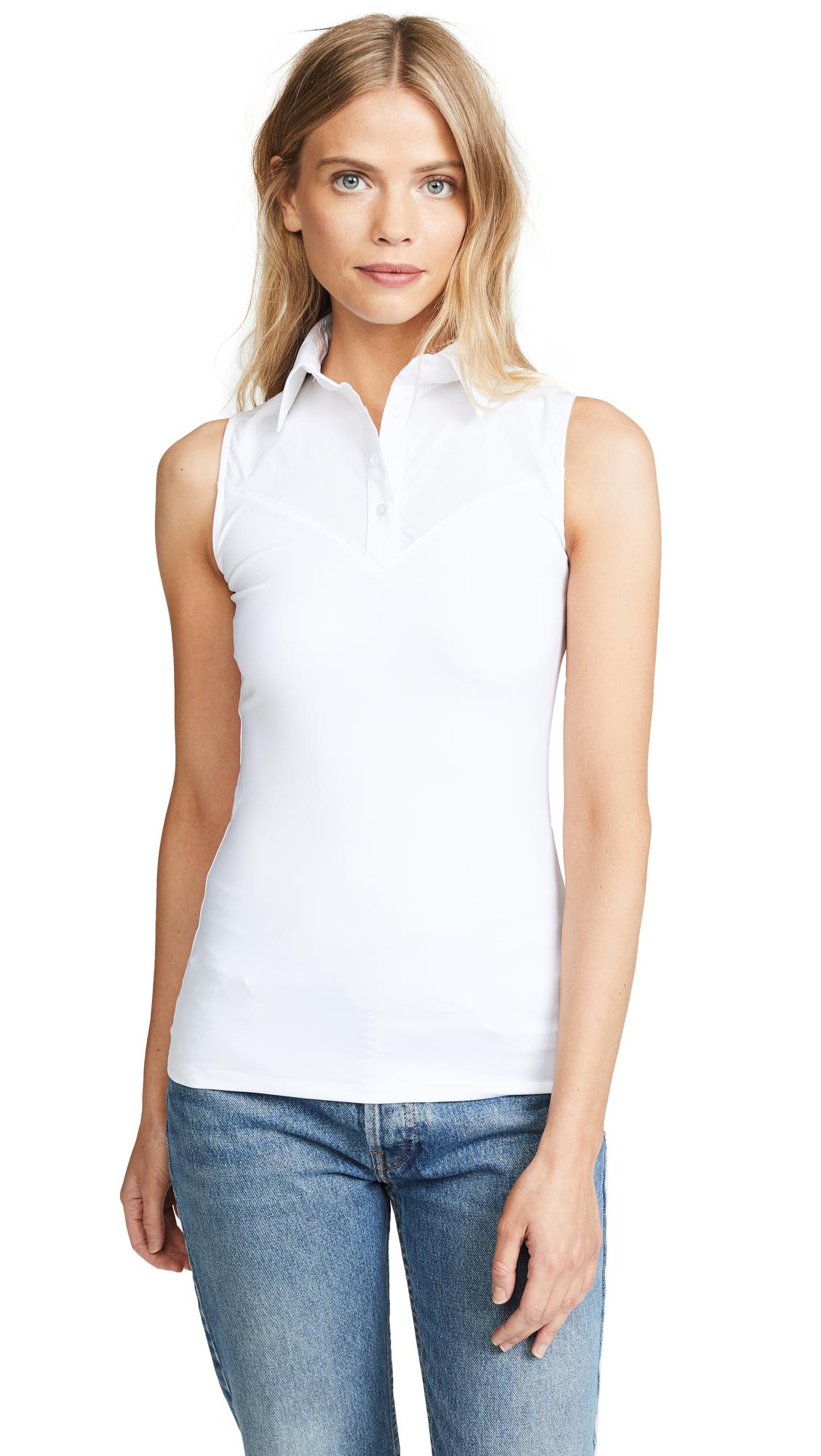 SKINNYSHIRT Classic Collar Shirt In White