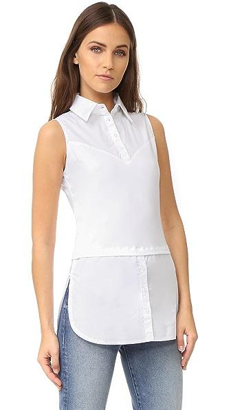 SKINNYSHIRT Sleeveless Shirt with Tails