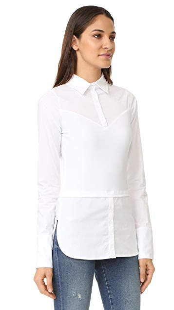 SKINNYSHIRT French Cuff Long Sleeve Shirt with Tails