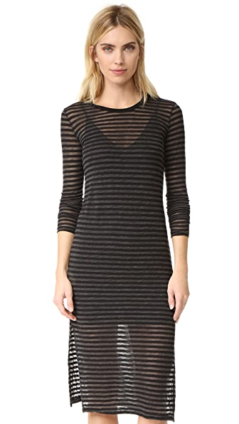 Stateside Stripe Long Sleeve Dress