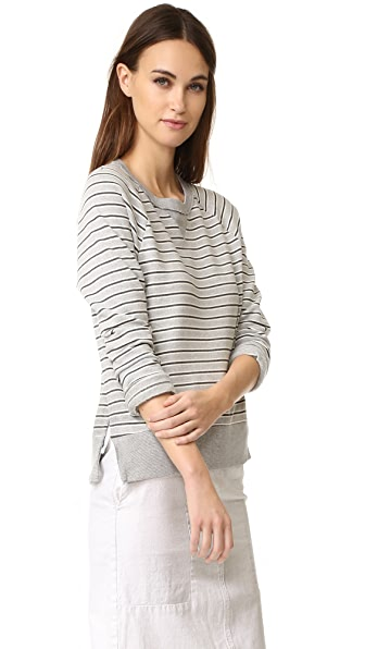 Stateside Long Sleeve Stripe Sweatshirt