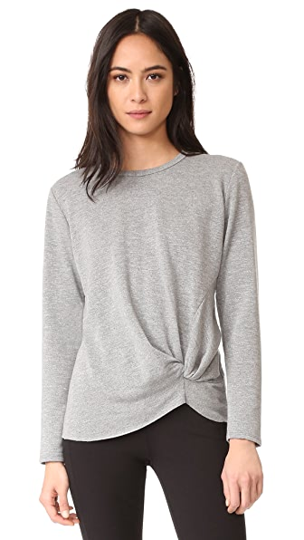 Stateside Long Sleeve Knot Sweatshirt - Heather Grey