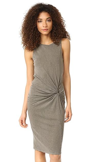 Stateside Slub Twisted Dress