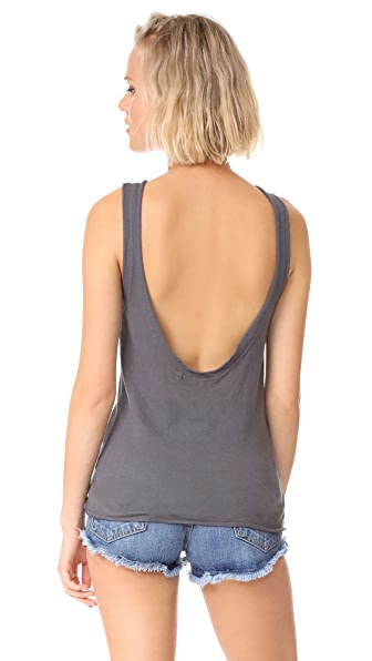 Stateside Crepe Tank Top In Charcoal