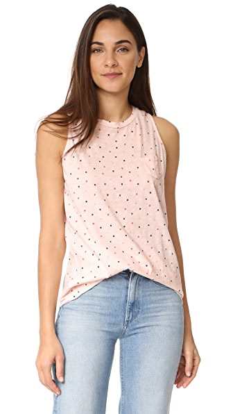 Stateside Polka Dot Tank - Peach