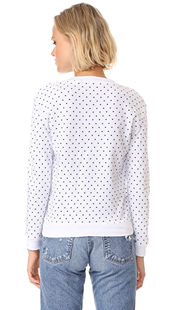Stateside Heart Print Sweatshirt