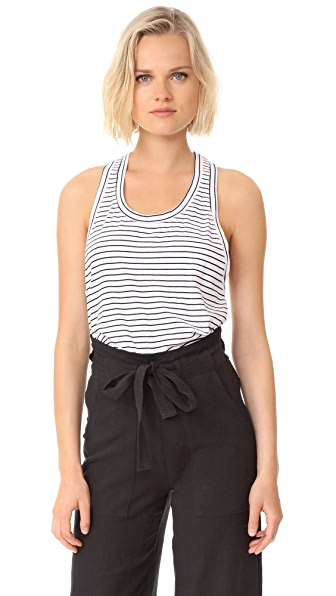 Stateside Skinny Stripe Tank Top - White
