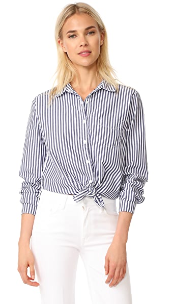 Stateside Oxford Blouse - Midnight Stripe