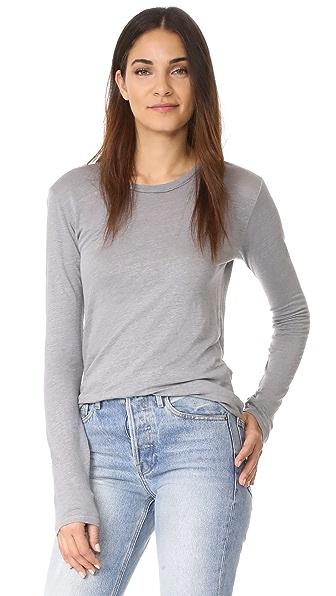 Stateside Linen Jersey Long Sleeve - Silver