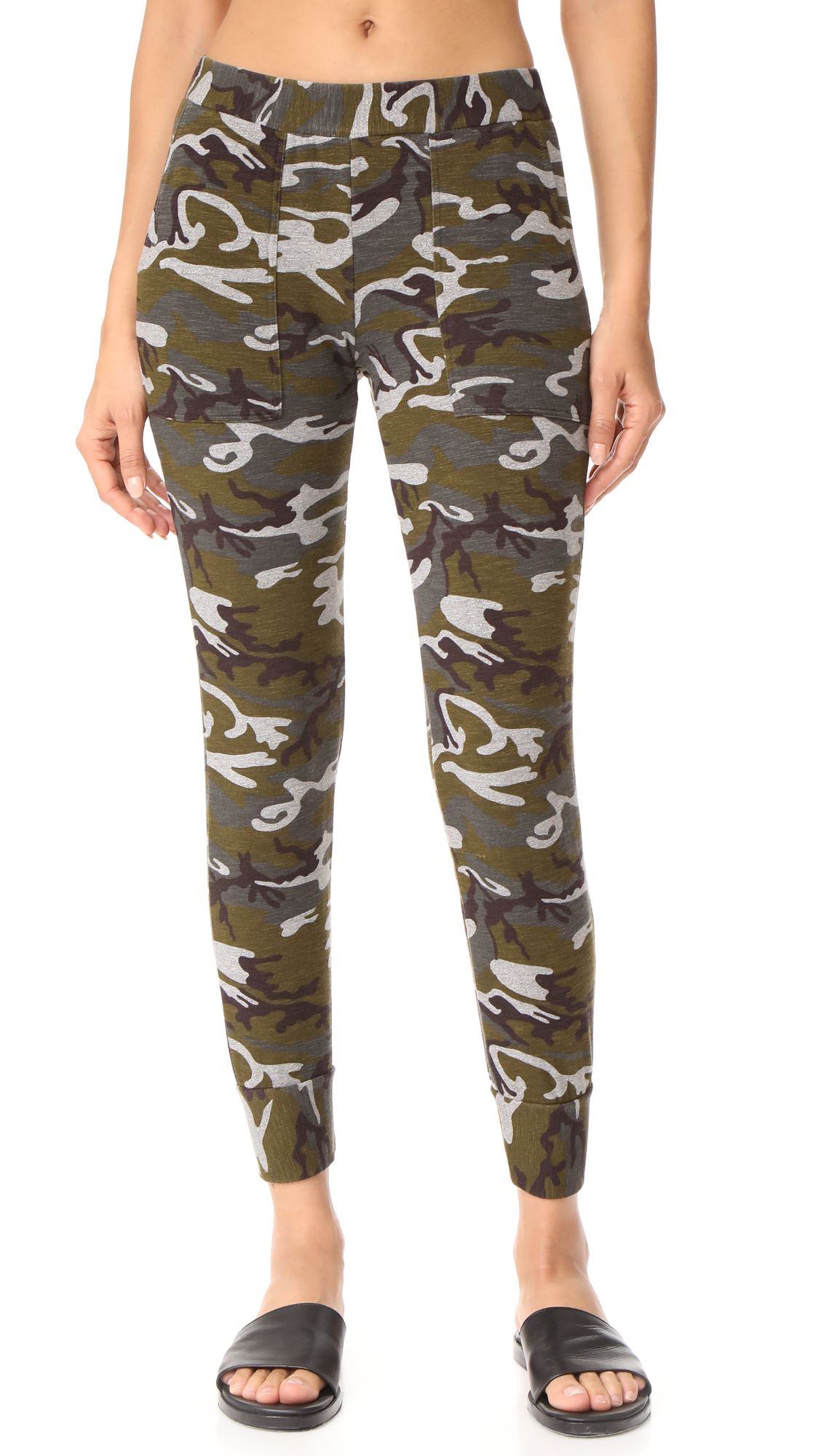Stateside Camo Fleece Sweats - Charcoal