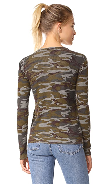 Stateside Camo Thermal Henley