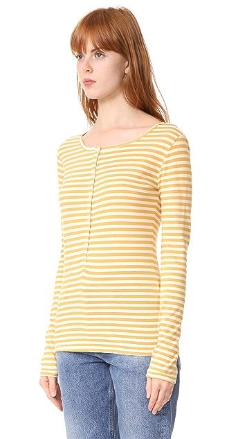 Stateside Mustard Stripe Henley