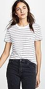 Stateside 条纹口袋 T 恤