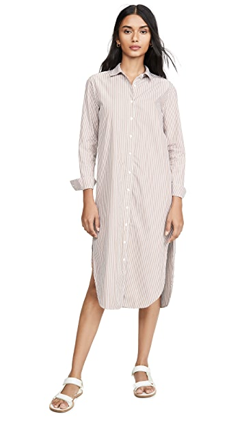Stateside Poplin Stripe Shirting Dress