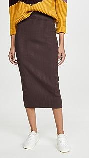 Stateside Heavy Rib Midi Skirt